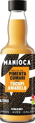 Imagem 1 de 4 de Molho De Pimenta Cumari Com Tucupi Amarelo De 60ml - Manioca