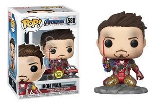 Funko Pop Yo Soy Iron Man Endgame Glow Edicion Especial