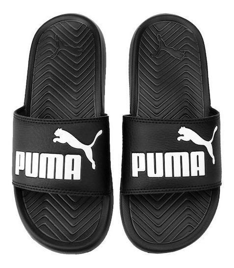Chinelo Puma Popcat Preto Original Loja Marceloshoes