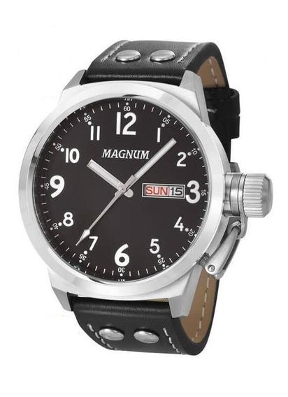 Relógio Magnum Masculino Ma32774t Aço Preto Analógico
