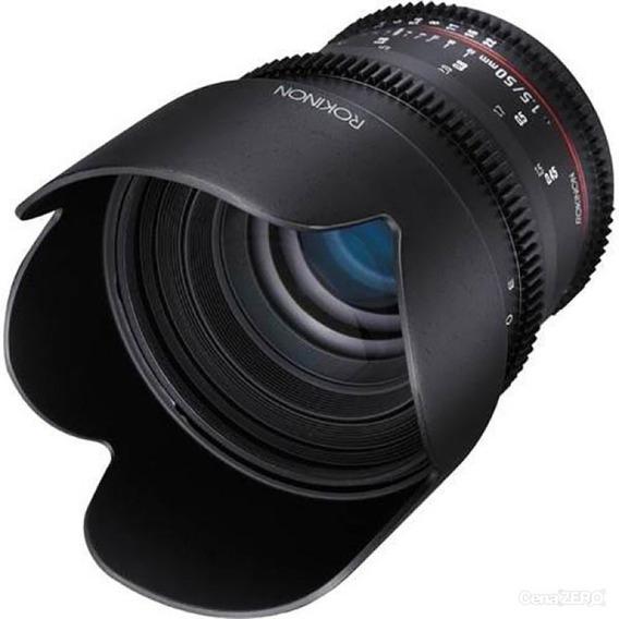 Lente Rokinon 50mm T1.5 Umc Cine Ds Lens Para Canon Ef