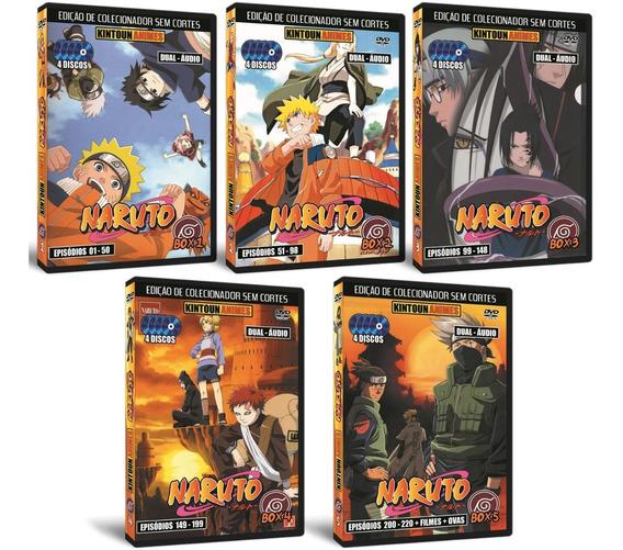 Naruto Clássico Dublado + Filmes + Ovas. Box Completo