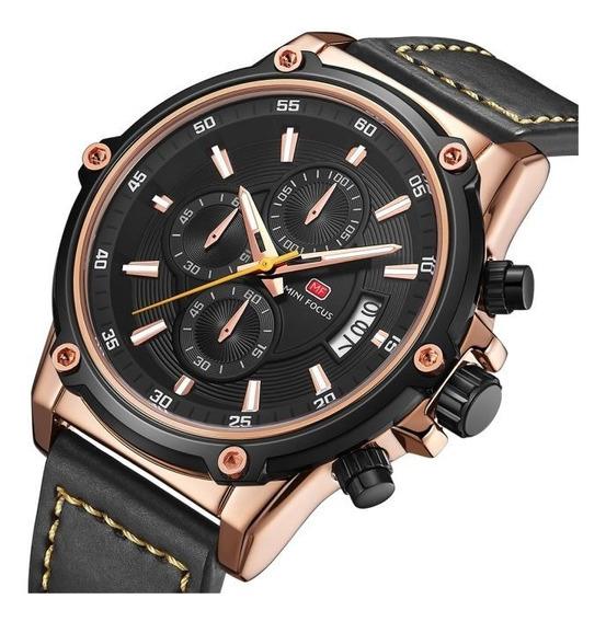 Reloj Para Hombre Minifocus Original Con Cronografo Ngr 175g