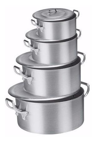 Jogo De Caçarola Alumínio Industrial Restaurante Buffet
