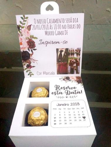 Imagem 1 de 10 de Caixa Convite Padrinhos De Casamento Kit 13 Unidades