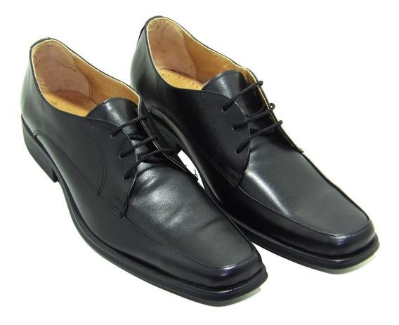 Zapato Hombre Negro Cuero Base Pu - Calzados Union-076