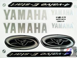 Kit Jogo Faixa Adesivo Yamaha Xt 600 Preta 2003 / 2004