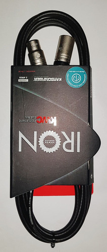 Imagen 1 de 5 de Cable Kw Iron 241 Canon Canon Neutrik ,3 M. 5 Años Garantia