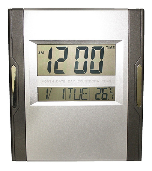 Relógio Digital Para Parede Mesa Grande Led Data Temperatura