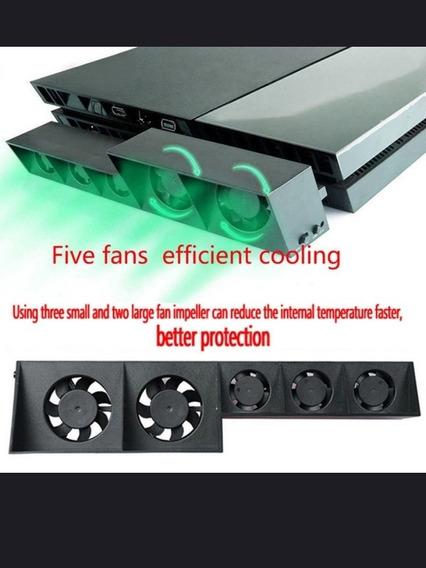 Ps4 Pro 5 Fãs Que Resfria O Refrigerador De Temperatura