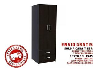 Ropero Placard 2 Puertas 2 Cajones - Centro Estant R2 - Envio Sin Cargo Caba Y Gba +