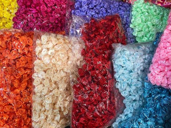 1000 Flores Rococo Raso 10 A 13mm. Un Color!! Oferta!