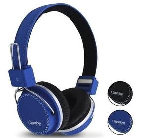 Headphone Hb02 Bomber Quake Haste Fio Removivel Encaixe P2