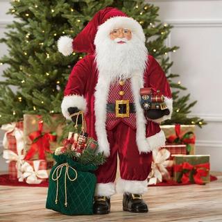 Santa Claus, Papa Noel Grande 91 Cms Costal, Tren Y Regalos