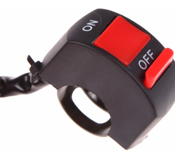 Botão Interruptor On Off Farol Milha Moto Prova Dágua 22mm
