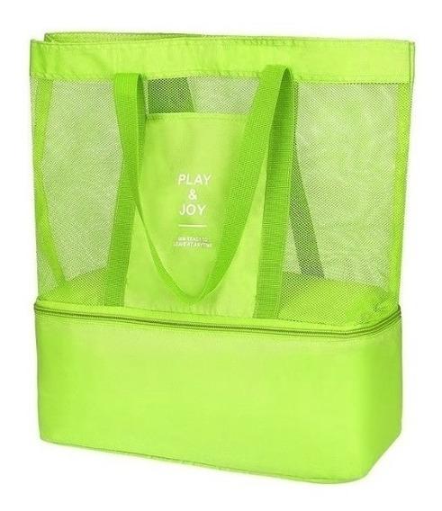 Bolsa De Praia Play E Joy Com Cooler Embutido. Ref: 746