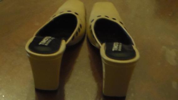 Zapatos De Cuero Estilo Mule Nº 36