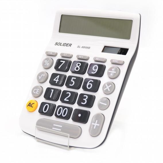 Calculadora Grande 12 Dígitos Sl8898b Un Solider