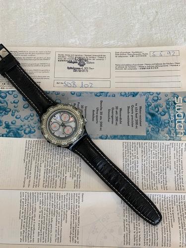 Relogio Swatch Crono,scuba 200.sdb102,ano 1992. Sem Uso 45mm