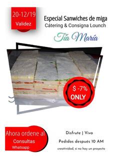 Sanwiches De Miga 12 Unid. =)