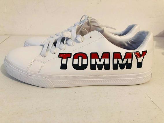 Tennis Tommy Hilfiger Originales Nuevos Para Mujer Blancos