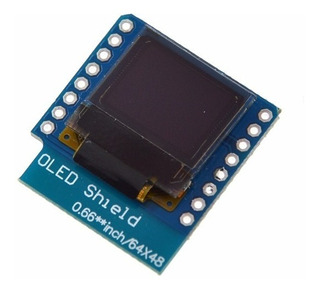 Display Oled Shield Esp32 Mini 0.66 64x48 I2c Itytarg