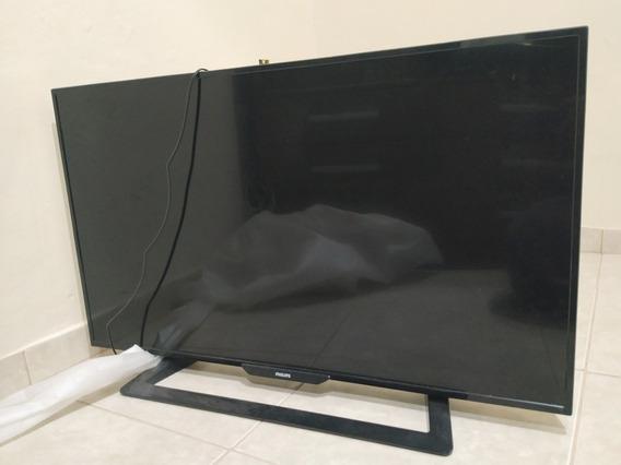 Tv Philips 43 Com Tela Quebrada