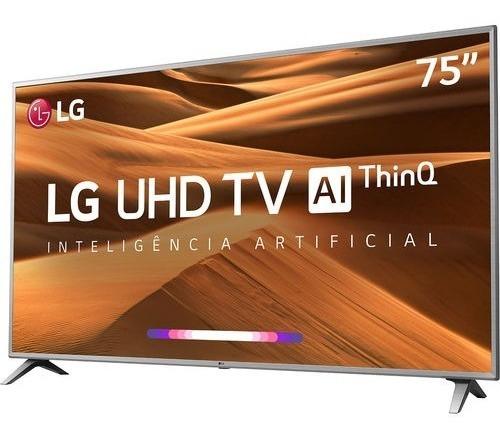 Tv 75 Led Uhd 4k Lg 75um7510psb Wifi-usada-tela Trincada