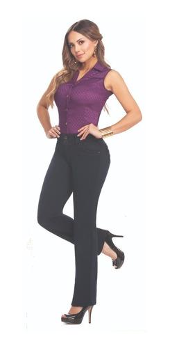 Imagen 1 de 2 de Jeans Plus Size Cromo Jeans Bota Recta Tiro Alto