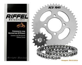Kit Relação Dafra Next 250 Transmissão Retentor Riffel 1045