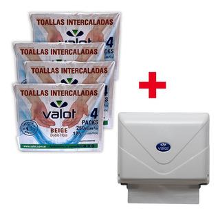 Super Kit Toallas De Mano + Dispenser De Regalo Valot