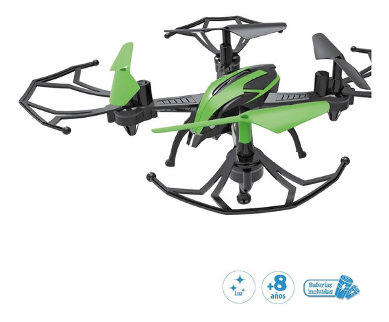 Drone Con Luz Y Bateria Recargable Lite 360 Duende Azul Full