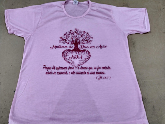 100 Camisetas Feminina Blusa T-shirt Gospel Evangélica