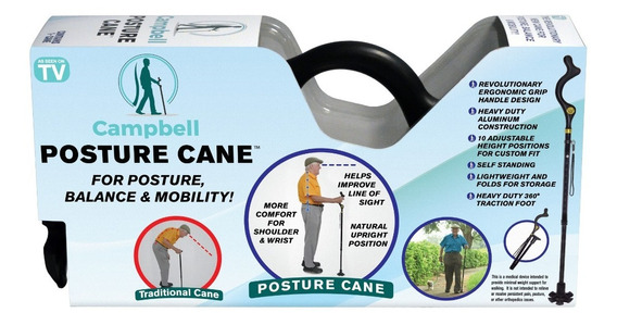 Campbell Posture Cane, Baston Ajustable Corrector De Postura