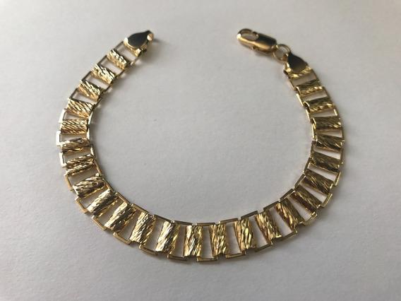 Pulso Eslabón Diamantado Oro Laminado 24k Envio Gratis !