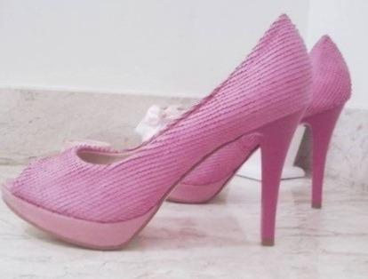 Calçado - Peep Toe Rosa