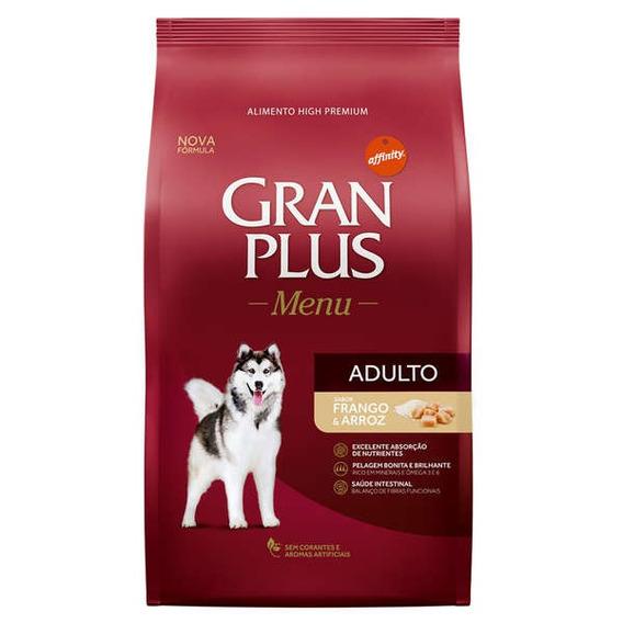 Ração Granplus Para Cães Adultos Sabor Frango E Arroz - 15kg