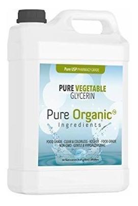 Glicerina Vegetal 64 Oz Por Ingredientes Organicos Puros Kos