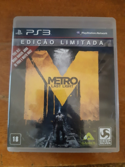 Metro Last Light Ps3 Original Completo Na Caixa Ótimo Estado