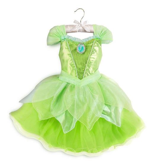 Vestido Sininho Tinker Bell Light-up Original Disney 3 Anos