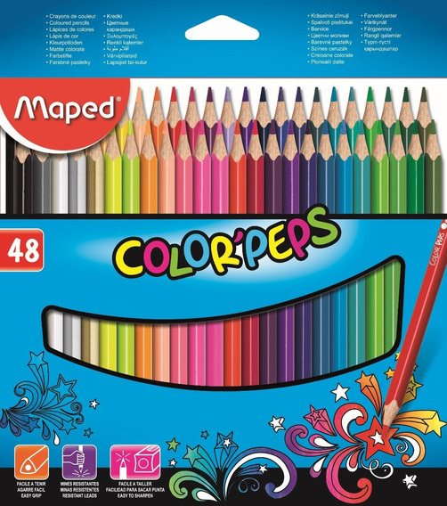 Lapices Maped Color Peps Largos 48 U (mas Ofertas Maped)