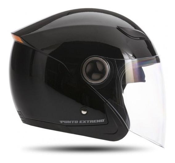 Casco Moto Abierto Xr100 Punto Extremo