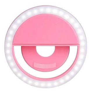 Mini Ring Light Flash Para Celular Clip Anel Selfie Led