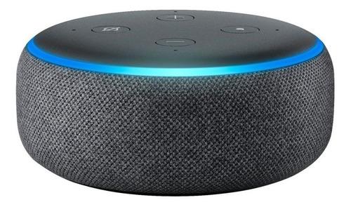 Imagen 1 de 4 de Amazon Echo Dot 3rd Gen con asistente virtual Alexa charcoal 110V/240V