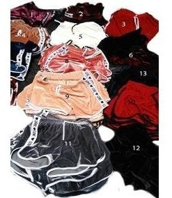 Kit C/8 Shorts De Veludo Feminino Moda Baladinha