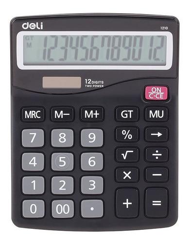 Imagen 1 de 4 de Calculadora De Escritorio Deli E1210