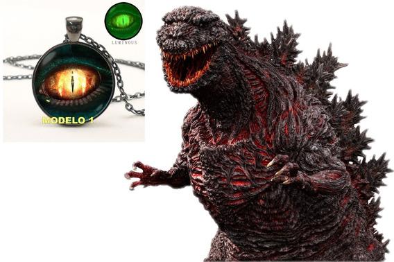 Colar Olho De Godzilla - Colar Olho De Gato - Godzilla - Gato - Cat -