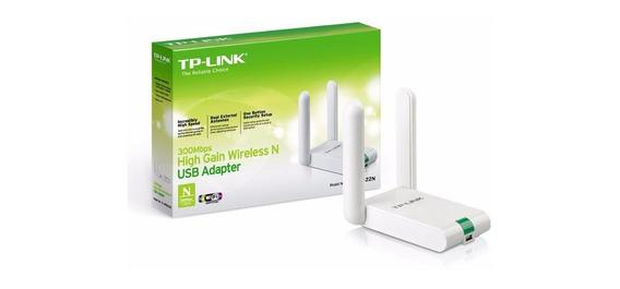 Receptor Wireless Usb Tp-link Tl-wn822n 300mbps High Gain