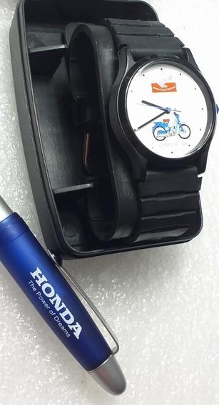 Relógio Honda Super Cube Made In Japan Anos 90 + Caneta