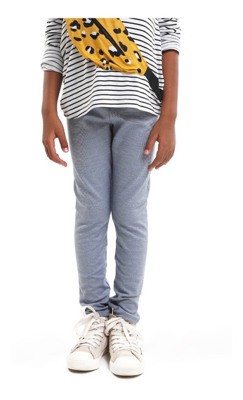 Pack De Leggings Niña Superficie Lisa Color Gris Lob